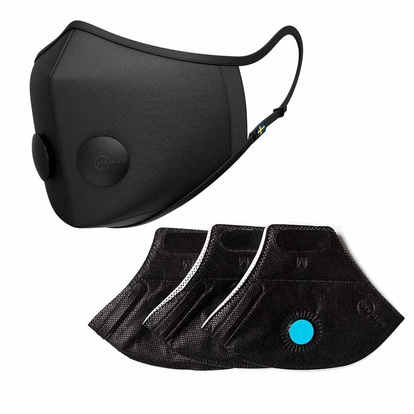 Airinum Urban Air Mask 2.0 Onyx Black M + Urban Air Filter Paket